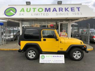 Used 2006 Jeep Wrangler Sport HARD TOP! EXTRA CLEAN! FINANCE IT! for sale in Langley, BC