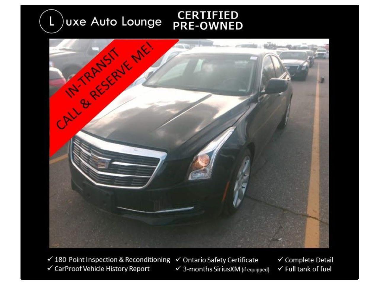 2015 Cadillac ATS 2.0 TURBO, 6-SPEED, SUNROOF, BOSE, CUE!