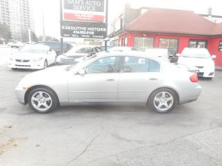 Used 2003 Infiniti G35 LOADED WITH NAV SUPER  CLEAN!! for sale in Scarborough, ON