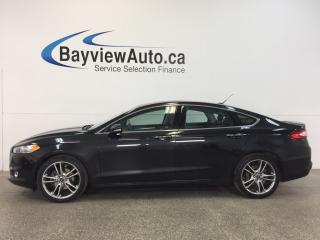 Used 2013 Ford Fusion TITANIUM- AWD|ROOF|HTD LTHR|NAV|ADAP. CRUISE|BLIS! for sale in Belleville, ON