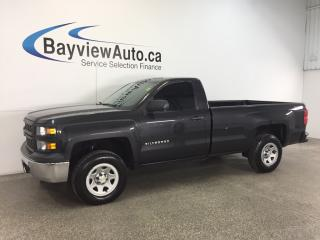 Used 2015 Chevrolet Silverado 1500 - 5.3L|REG CAB|4x4|8' BOX|HITCH|REV CAM|TOW/HAUL! for sale in Belleville, ON