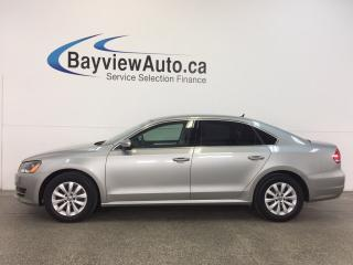 Used 2014 Volkswagen Passat TRENDLINE- TURBO|ALLOYS|HTD STS|BLUETOOTH|CRUISE! for sale in Belleville, ON