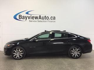 Used 2017 Chevrolet Malibu LT- TURBO|REM START|PANOROOF|HTD LTHR|NAV|BOSE! for sale in Belleville, ON