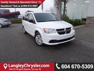 Used 2016 Dodge Grand Caravan SE/SXT *ACCIDENT FREE*ONE OWNER*LOCAL BC CAR* for sale in Surrey, BC