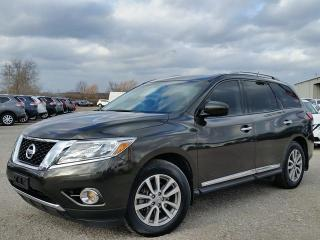 Used 2015 Nissan Pathfinder SL 4WD w/NAV,all leather,climate,3rd row seating,rear cam,heated seats,pwr hatch for sale in Cambridge, ON