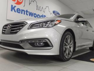 Used 2017 Hyundai Sonata 2.0T Sport Ultimate- Name her Ellen because everyone gets a heated seat! NAV, sunroof, heated steering wheel for sale in Edmonton, AB
