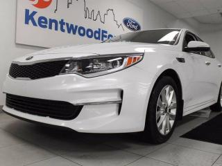 Used 2016 Kia Optima Optima with heated power seats, heated steering wheel, back up cam and a push start for sale in Edmonton, AB