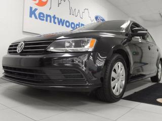 Used 2016 Volkswagen Jetta TSI- stellar back up cam and a midnight black for sale in Edmonton, AB
