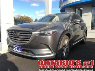 Used 2016 Mazda CX-9 CX-9 SIGNATURE, WOOD TRIM, NAPA LEATHER BSM for sale in North York, ON