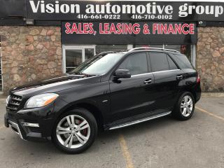 Used 2012 Mercedes-Benz ML 350 ML 350 BlueTEC|NAVI|BACKUP CAM|PANOROOF|DIESEL for sale in North York, ON