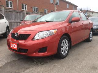 Used 2009 Toyota Corolla 1.8L/aux input,cruise control,power win,rear view for sale in Scarborough, ON