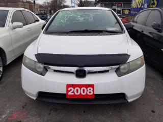 Used 2008 Honda Civic DX-G, 152 km for sale in Scarborough, ON