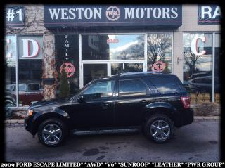 Used 2009 Ford Escape LIMITED*AWD*V6*SUNROOF*LEATHER*PWR GROUP* for sale in York, ON