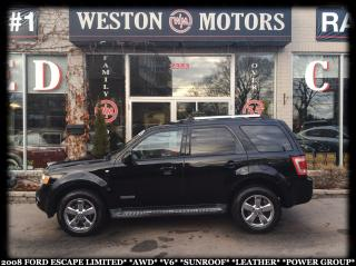 Used 2008 Ford Escape LIMITED*AWD*V6*SUNROOF*LEATHER*PWR GROUP* for sale in York, ON