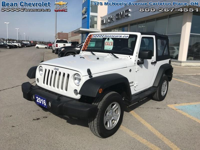 Jeep Wrangler For Sale Ontario >> Used 2016 Jeep Wrangler Sport For Sale In Carleton Place