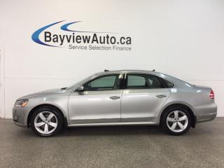 Used 2014 Volkswagen Passat COMFORTLINE- TDI|ALLOYS|SUNROOF|HTD LTHR|CRUISE! for sale in Belleville, ON
