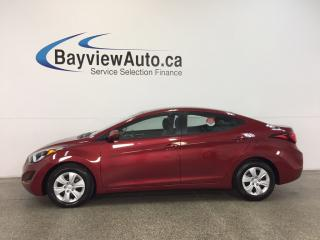 Used 2016 Hyundai Elantra L- 1.8L|AUTO|ECO MODE|A/C|PWR GROUP|LOW KM! for sale in Belleville, ON