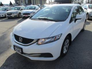 Used 2013 Honda Civic 5-SPEED MANUAL LX MODEL 5 PASSENGER 1.8L - SOHC.. HEATED SEATS.. ECON-BOOST.. CD/AUX INPUT.. KEYLESS ENTRY.. for sale in Bradford, ON