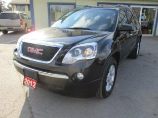 Used 2012 GMC Acadia FAMILY MOVING SLE-1 MODEL 8 PASSENGER 3.6L - V6.. BENCH.. 3RD ROW.. TOUCH SCREEN.. BACK-UP CAMERA.. CD/USB INPUT.. for sale in Bradford, ON