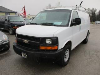 Used 2012 Chevrolet Express 3/4 TON WORK READY CARGO MOVER 2 PASSENGER 4.8L - VORTEC.. TOW SUPPORT.. ROOF RACKS.. CARGO SHELVING.. for sale in Bradford, ON