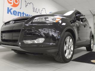 Used 2015 Ford Escape Titanium 4WD ecoboost with it all. NAV, twin panel sunroof, heated power leather seats, keyless entry, back up cam for sale in Edmonton, AB
