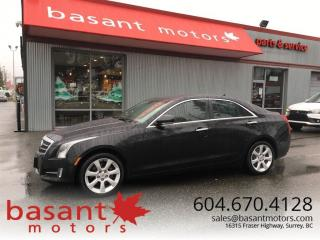 Used 2013 Cadillac ATS 2.0T Performance, HUD, Nav, Crash Warning, Low KMs for sale in Surrey, BC
