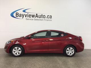 Used 2016 Hyundai Elantra L- AUTO|1.8L|A/C|CRUISE|LOW KM! for sale in Belleville, ON