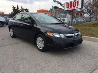 Used 2006 Honda Civic DX,G-AUTO,183K,SAFETY+3YEARS WARRANTY INCLUDED for sale in North York, ON
