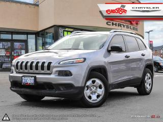 Used 2017 Jeep Cherokee Sport 4X4 REAR CAM V6 ENGINE TINTED WINDOWS for sale in Scarborough, ON