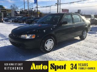 Used 2000 Toyota Corolla VE/A RECENT TRADE IN/PRICED FOR A QUICK SALE for sale in Kitchener, ON