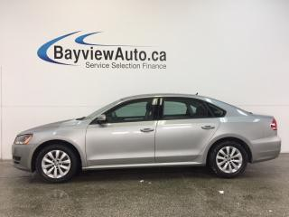 Used 2013 Volkswagen Passat TRENDLINE- 2.5L|LLOYS|DUAL CLIMATE|BLUETOOTH! for sale in Belleville, ON