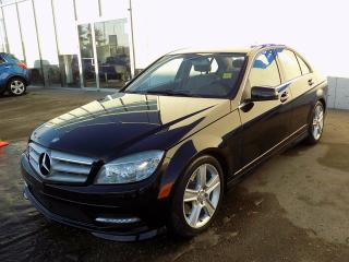 Used 2011 Mercedes-Benz C-Class AWD/LEATHER SEATS/SUNROOF/HEATED SEATS for sale in Edmonton, AB