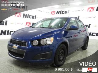 Used 2013 Chevrolet Sonic LT for sale in La Sarre, QC