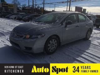 Used 2010 Honda Civic DX-A/LOW, LOW KMS/PRICED FOR A QUICK SALE for sale in Kitchener, ON