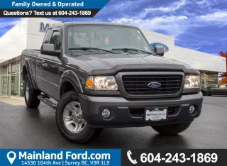 Used 2009 Ford Ranger Sport LOW KMS, LOCAL for sale in Surrey, BC