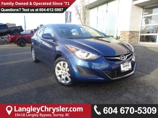 Used 2016 Hyundai Elantra GL <b>*LOCALLY*BLUETOOTH*HEATED SEATS*<b> for sale in Surrey, BC