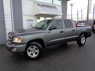 Used 2008 Dodge Dakota SLT 4x4 V8, Crew Cab, Service Records, Local Truck for sale in Langley, BC