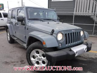 Used 2014 Jeep WRANGLER UNLIMITED SAHARA 4D UTILITY for sale in Calgary, AB