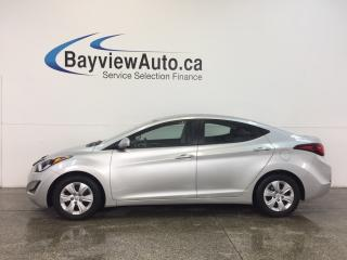 Used 2016 Hyundai Elantra L- 1.8L|AUTO|ECO MODE|AC|CLEAN CARPROOF! for sale in Belleville, ON
