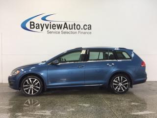 Used 2015 Volkswagen Golf HIGHLINE- TDI|WAGON|PANOROOF|HTD LTHR|NAV|FENDER! for sale in Belleville, ON