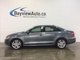 Used 2015 Volkswagen Jetta HIGHLINE- TDI|AUTO|SUNROOF|HTD LTHR|BSA|REV CAM! for sale in Belleville, ON