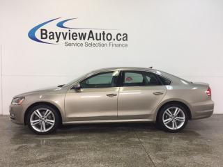 Used 2015 Volkswagen Passat HIGHLINE- TDI|ROOF|REM STRT|HTD LTHR|NAV|FENDER! for sale in Belleville, ON