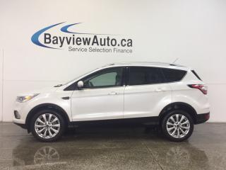 Used 2017 Ford Escape TITANIUM- ECOBOOST|REM STRT|ROOF|LTHR|NAV|SONY! for sale in Belleville, ON