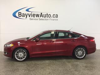 Used 2013 Ford Fusion SE- ECOBOOST|KEYPAD|SUNROOF|HTD LTHR|NAV|SYNC! for sale in Belleville, ON