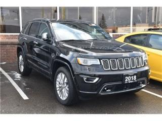 Used 2018 Jeep Grand Cherokee Overland NAVI/ADVANCED SAFETY GROUP/FULL SUNROOF for sale in Concord, ON