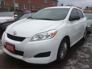Used 2012 Toyota Matrix aux,cruise control,key less entry power win,&rear for sale in Scarborough, ON