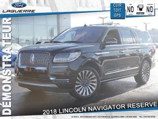 Used 2018 Lincoln Navigator Reserve Cuir Toit for sale in Victoriaville, QC