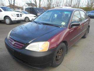 Used 2003 Honda Civic 4dr Sdn DX Manual for sale in Sorel-Tracy, QC