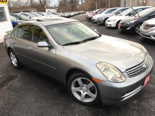 Used 2004 Infiniti G35 Luxury / Auto / Leather / Sunroof / Heated seats! for sale in Scarborough, ON