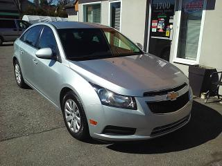 Used 2011 Chevrolet Cruze LT 83150km automatique air gr élec for sale in St-Charles-Borromée, QC